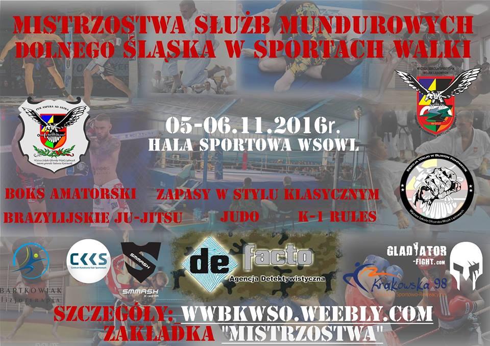 Mistrzostwa Dolnego Śląska służb mundurowych w Sztukach Walki