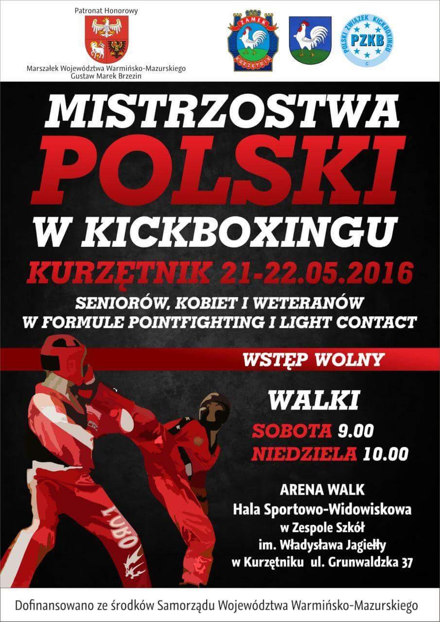 Mistrzostwa Polski w Kickboxingu - Kurzętnik 2016
